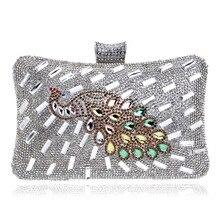 2016 neue Single Schulter Handtasche Pfau Luxus Diamanten Party Abendtasche Frauen Messenger Bags Handtaschen Geldbörsen Tag Kupplungen