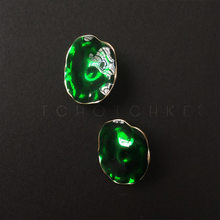 Timeless Wonder Geo enamel lotus leaf Stud Earrings gown Party Show Gift Brincos super runway rare exclusive green top 4623(China)