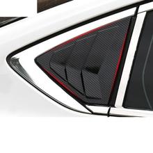 Lsrtw2017 Abs Car Rear Triangular Blinds Panel Trims for Buick Regal Opel Insignia 2018 2019 2020 цены онлайн