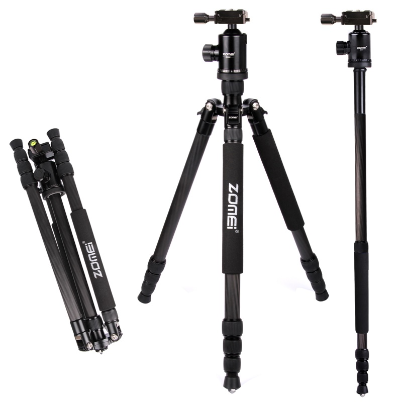 Zomei Z888C Professional Portable Carbon Fiber Tripod Stand with Ball Head Compact Travel -10 (2)