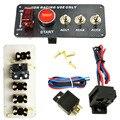 1 Conjunto Carro de Corrida 12 V Interruptor De Ignição Panel Engine Start pressione o Botão LED Fibra de Carbono Alternar Botão interruptor com acessório