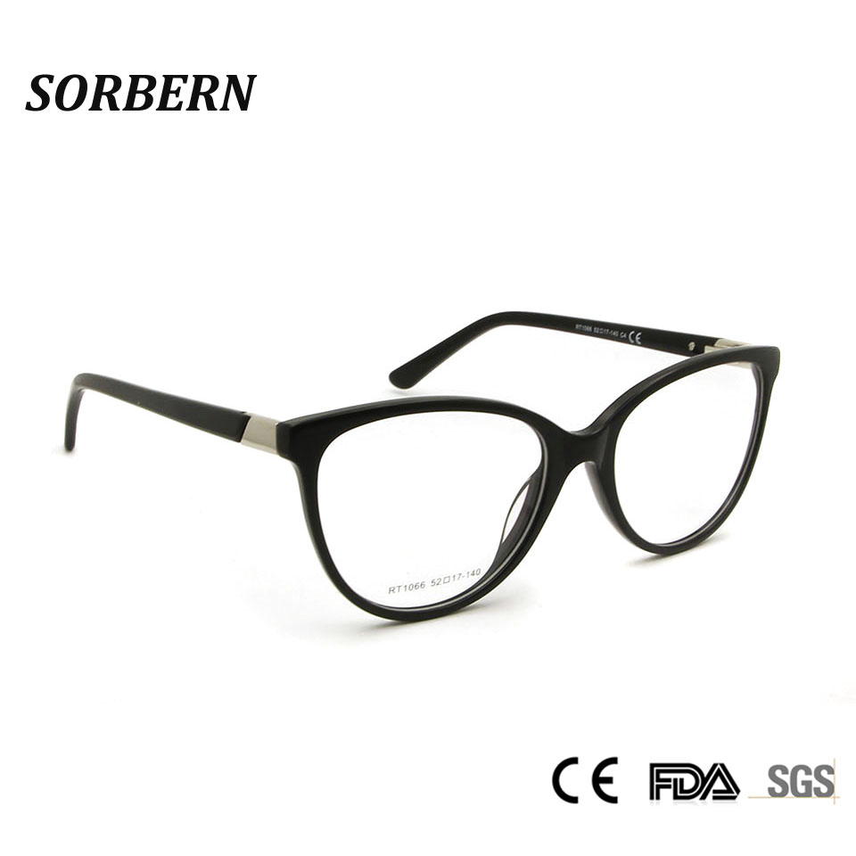 0fd6457ce7 SORBERN Vintage Cat Eye Eyeglasses Frames Reading Spectacles Brand Design  Women Sexy Prescription Optical Acetate Glasses