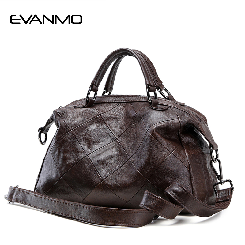 New Soft 100% Genuine Leather Women Handbag Luxury Designer Women Tote Bag Brand Crossbody Bag Large Capacity Lady Daily Handbag