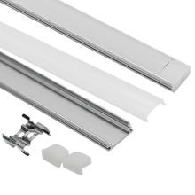 10PCS DHL 1 m LED strip aluminum profile for 5050 5630 LED hard bar light led bar aluminum channel housing with cover end cover