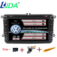 LJDA Wholesale 2din 8inch Touch Screen Wince 6 0 Systerm For VW PASSTA B6 Car DVD