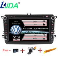 LJDA 2din מכשיר DVD לרכב רדיו לרכב עבור פולקסווגן פולקסווגן גולף B5 B6 פאסאט ג 'טה פולו CC TIGUAN אוקטביה ניווט Gps מולטימדיה