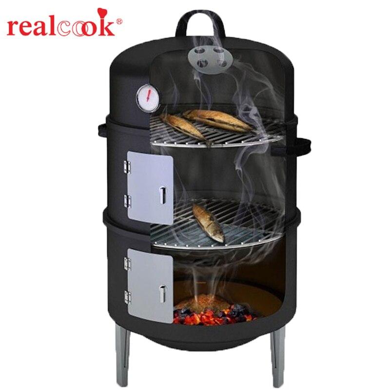 Protable Festa di Famiglia di Strumenti di Cottura del Carbone di legna Barbecue di Famiglia Barbecue del Carbone di legna Grill Picnic Facilmente Assemblato Da Campeggio Griglia Esterna