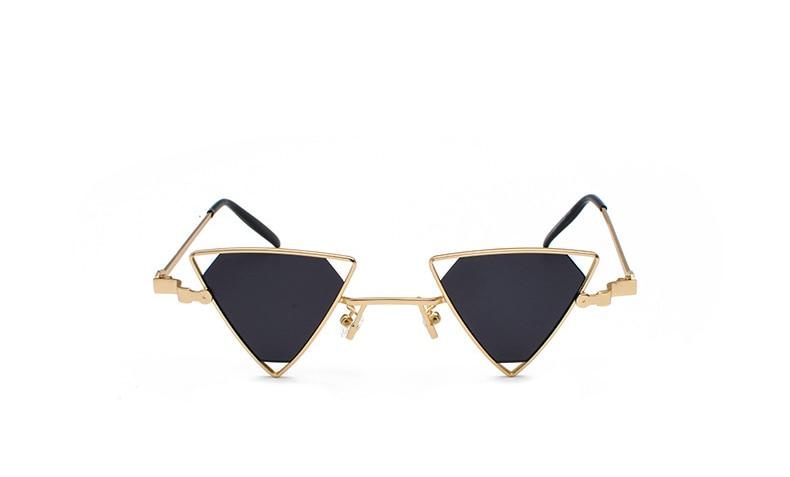 Compre MENINA REAL Do Punk Do Vintage Triângulo Óculos De Sol Das ... 13332ad642