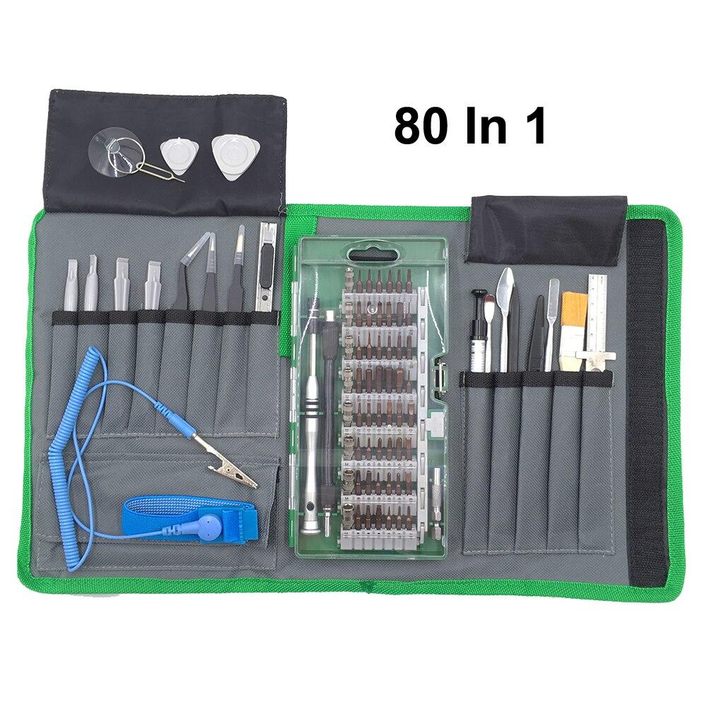 80 шт. Магнитная Прецизионная отвертка набор ручных инструментов Ремонтный комплект с сумкой для iPhone iPad Смартфон ноутбук и другая Электрони...
