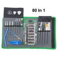 80Pcs Magnetic Precision Screwdriver Set Hand Tools Repair Kit With Bag for iPhone iPad Smartphone Laptop and Other Electronics