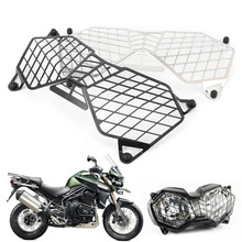 купить Motorcycle Front Headlight Grille Guard Cover Protector For Triumph Tiger 800 2010-2017 & Explorer 1200 1200XC 2012-2017 дешево