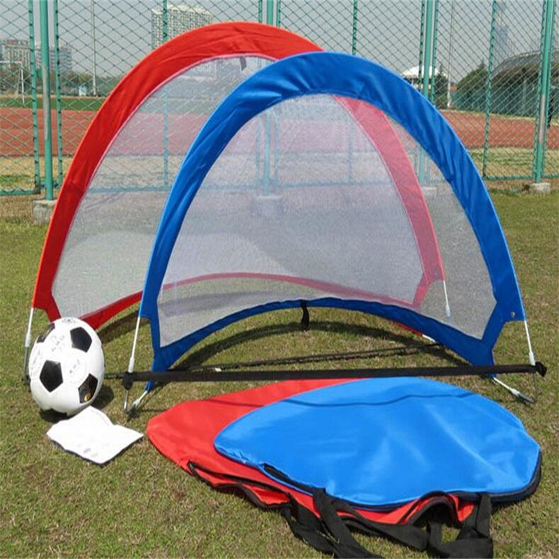 120cm Portable Folding football gate Soccer goal net Children's outdoor sports toys Fans supplies  soccer fans football colorful hair coser wig wild curl up tuba ball blast head clown hilarit party headwearing