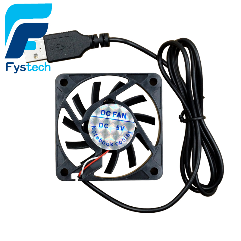 1PC Black USB DC Cooler Fan 5V 60mm 60x60x10mm 6010 6cm For Computer PC CPU Case Cooling