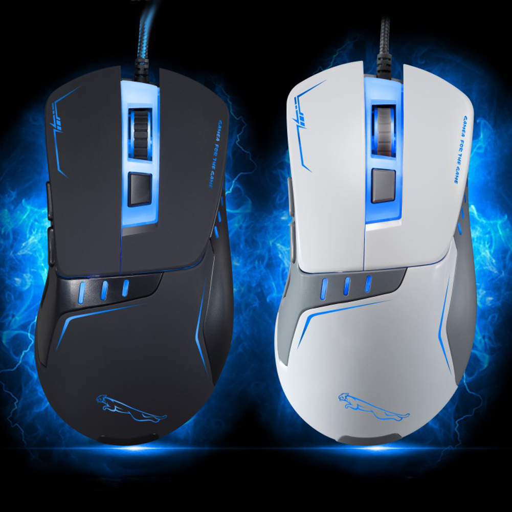 6 Pulsanti USB 2.0 Colorful LED Ottico Wired Gaming Mouse 5500 DPI Gamer Mouse Computer Mouse Per Il COMPUTER Portatile Regolabile Pro Gamer