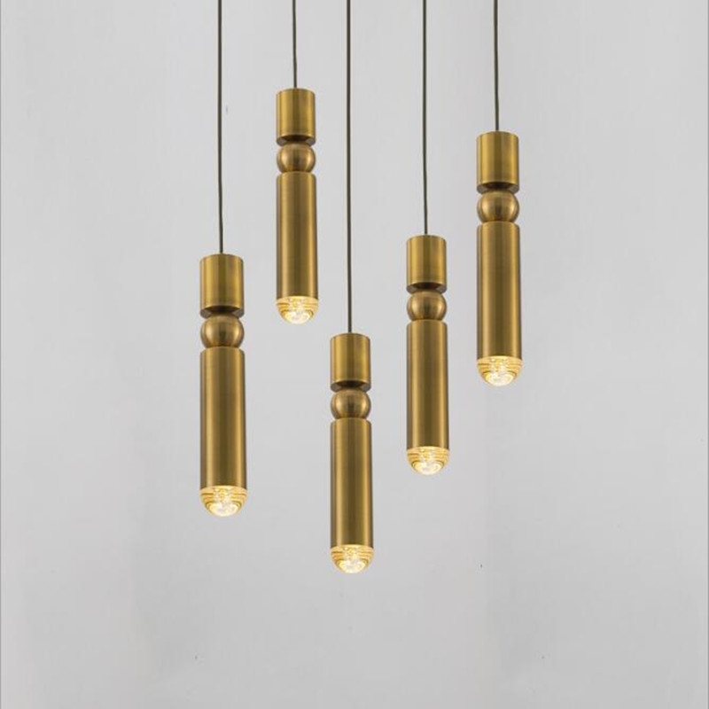 Nordic Post-modern Gold Art Pendant Lights Denmark Creative Restaurant Hotel Living Room Indoor Lighting Fixture Decr nordic post modern denmark creative chandelier art crown bar coffee shop decoration light dining lights