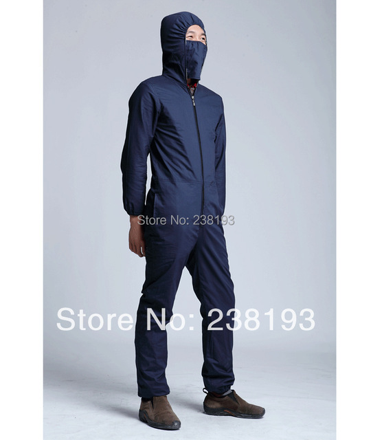 Factory, communications equipment, silver fiber high anti-radiation conjoined with hood overalls