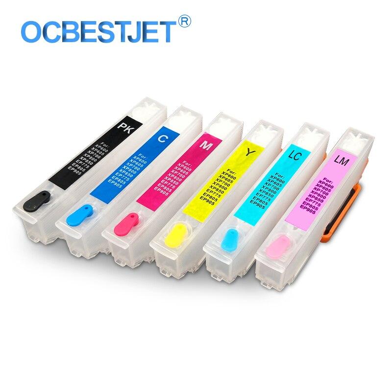6 cores set t2421 t2426 cartucho de tinta recarregaveis para epson expression foto xp 55