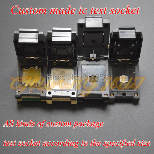 TEST Custom made ic test socket Custom made Adapter QFN/BGA/QFP socket bga series socket burn in test and programming test for bga package ic chips by this link can help you find right bga adapter