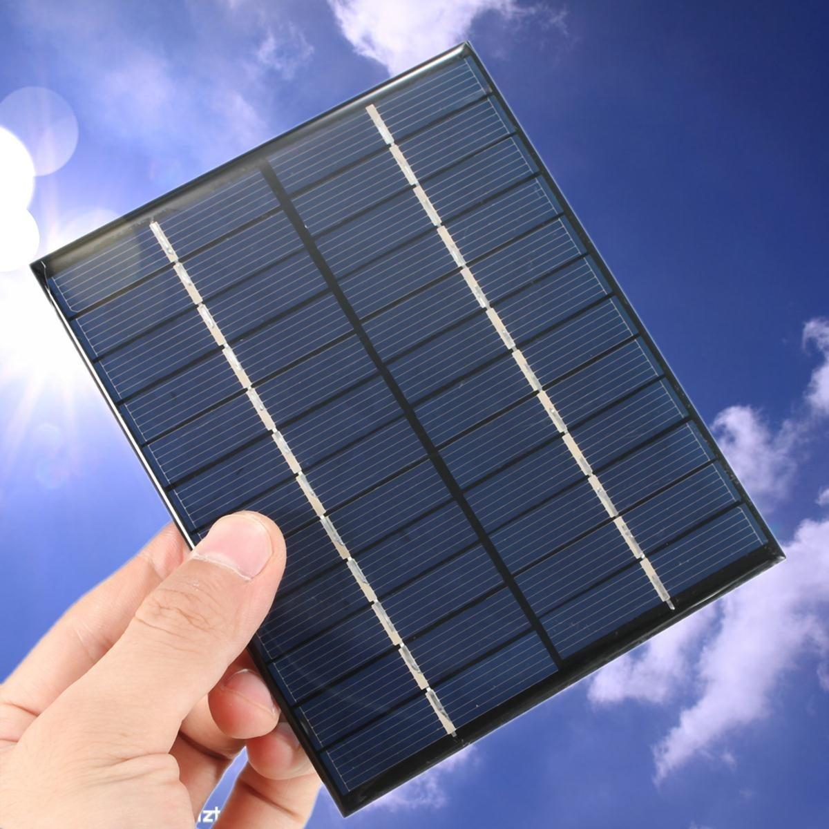 KINCO 12V 2W Solar Panel 5V Phone Solar Battery Charger 12V Mini DIY Epoxy Polycrystalline Cells For Smartphone Battery