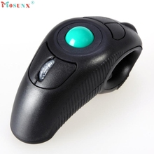 Adroit 2016 New Portable 2.4GHz Wireless USB Handheld Mouse Finger Using Optical Trackball Muis 11S60926