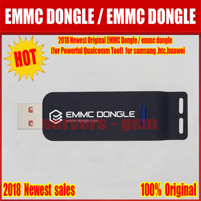 US $89 8  2018 Newest 100% original EMMC Dongle / emmc dongle(for Powerful  Qualcomm Tool) for samsung ,htc,huawei    -in Telecom Parts from Cellphones