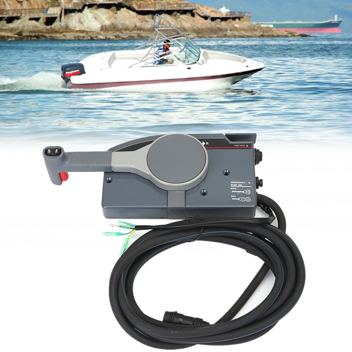 Boat Forward Reverse Switch Bremas Drum Reversing Wiring Diagram Lever Outboard Remote Control Box For Yamaha Pin Cable Right Hand Push