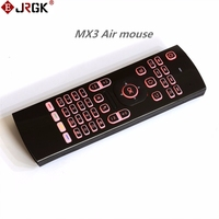 JRGK 7 Colors Backlight Air Mouse Mx3 Portable 2 4GHz Wireless Keyboard Universal Remote Control IR