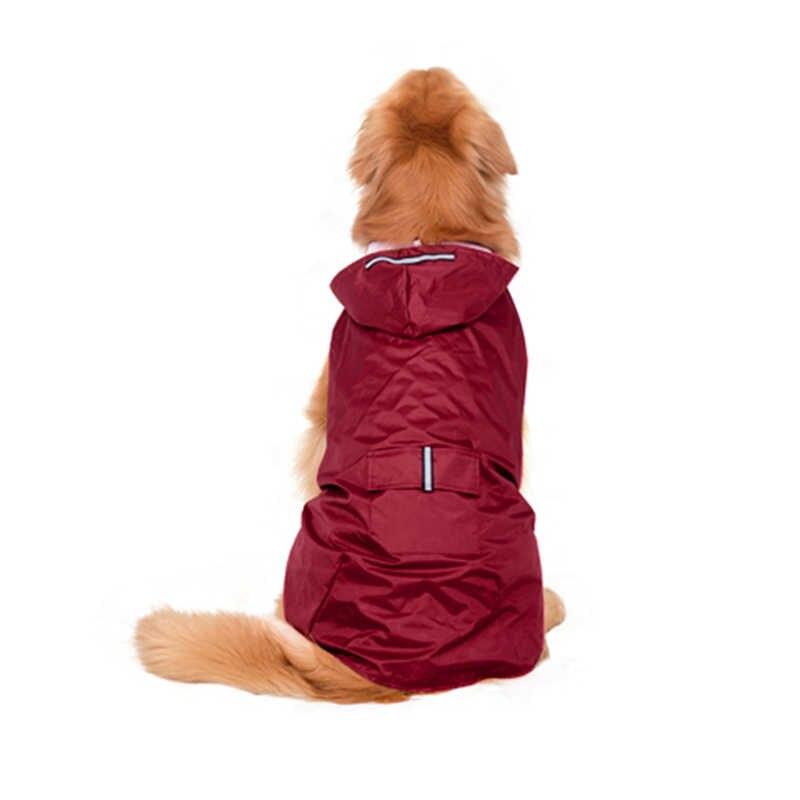 חיות מחמד כלב קטן מעיל גשם עמיד למים גדול כלב בגדים חיצוני מעיל גשם מעיל רעיוני גור כלב גדול פונצ 'ו לנשימה רשת