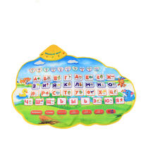 Russian Learning Mat Play Musical Mat Alphabet Baby Play Mat Animal Sounds Educational Learning Baby Toy Play mat Carpet Gift(China)