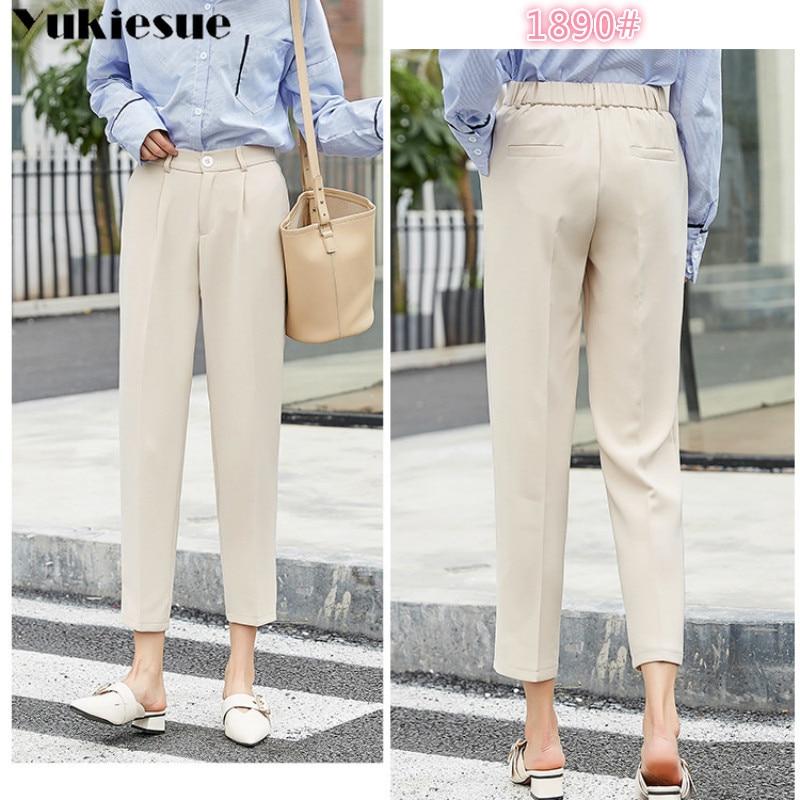 harem   pants     capris   for women with high waist OL office ankle length women's   pants   female trousers Plus size pantalon femme
