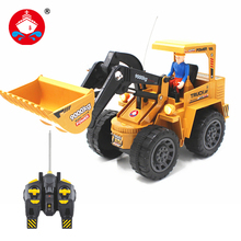 RC truck  Alloy Bulldozer 6 Channel  Engineer Vehicle With Light Remote Control Simulation Engineer Truck Christmas Gift 6816L
