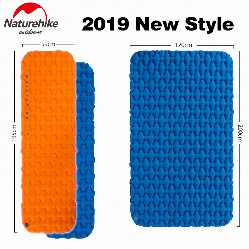 Naturehike Outdoor Camping Mat Inflatable Bag Inflatable Tent Sleeping Pad Ultralight Portable Picnic Air Mat Camping Picnic Pad