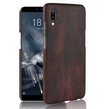 SuliCase Leather Case for Meizu M3E Wood Grain Hard Cover PC Frame