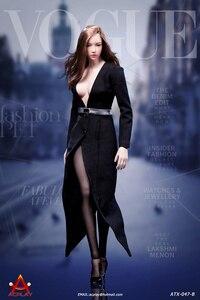 Image 5 - 1/6 נשי פעולה איור בגדי תעלת מעיל סט עם חגורת גרביים סקסי חליפת עבור 12 אינץ Phicen Tbleague Jiaoudoll גוף דמות