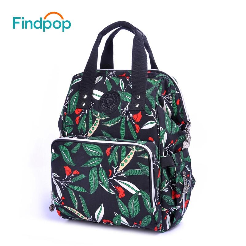 Findpop Large Capacity Women Backpack 2018 New Multifunction Green Backpacks Bags For Women Waterproof Canvas Backpacks Mochilas