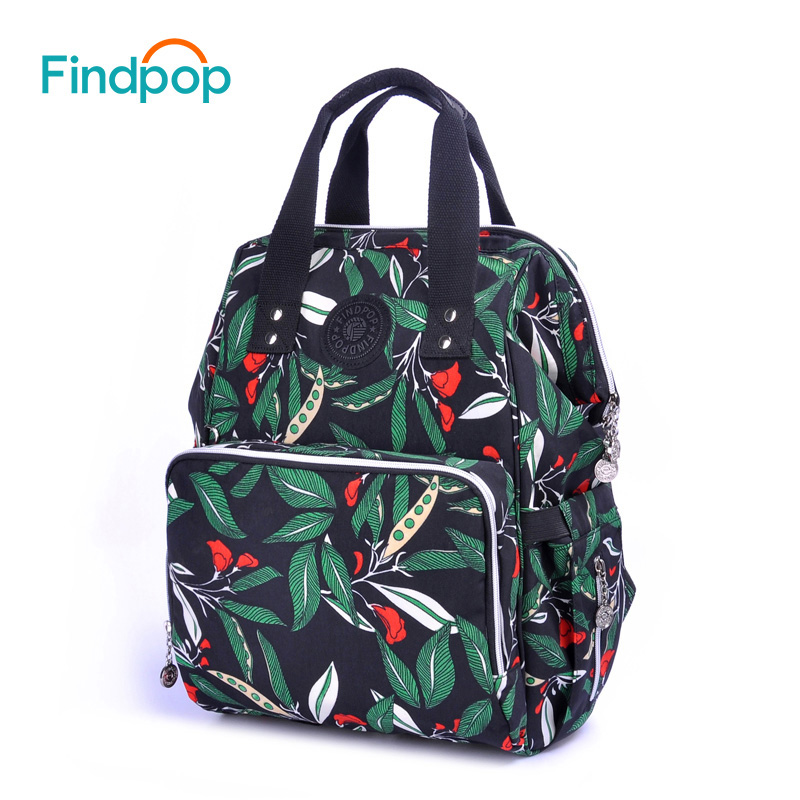 Findpop Large Capacity Women Backpack 2018 New Multifunction Green Backpacks Bags For Women Waterproof Canvas Backpacks Mochilas