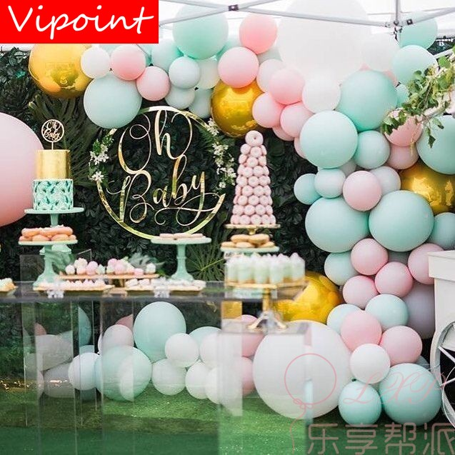 VIPOINT PARTY 100 pcs 10inch blue pink red green latex balloons wedding event christmas halloween festival birthday party PD 122 in Ballons Accessories from Home Garden