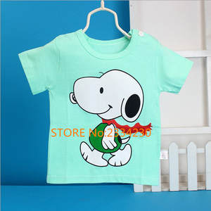 Hot Sale Boys Girls Unisex Baby T-shirts 2017 High Quality Fashion T-shirts Casual O-neck Short Sleeve 100% Cotton Kids T-shirt