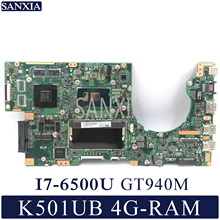 KEFU K501UX Laptop motherboard for ASUS K501UB K501U Test original mainboard DDR3 4G RAM I7 6500U