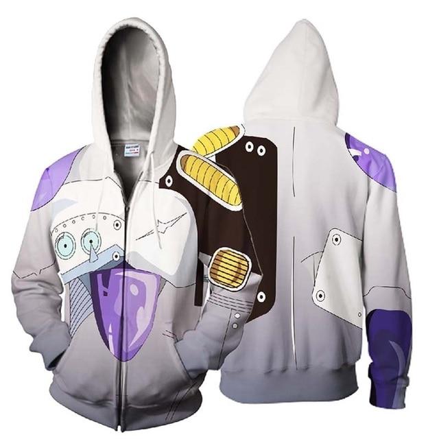 Dragon Ball Frieza 3D Zipper Hoodie