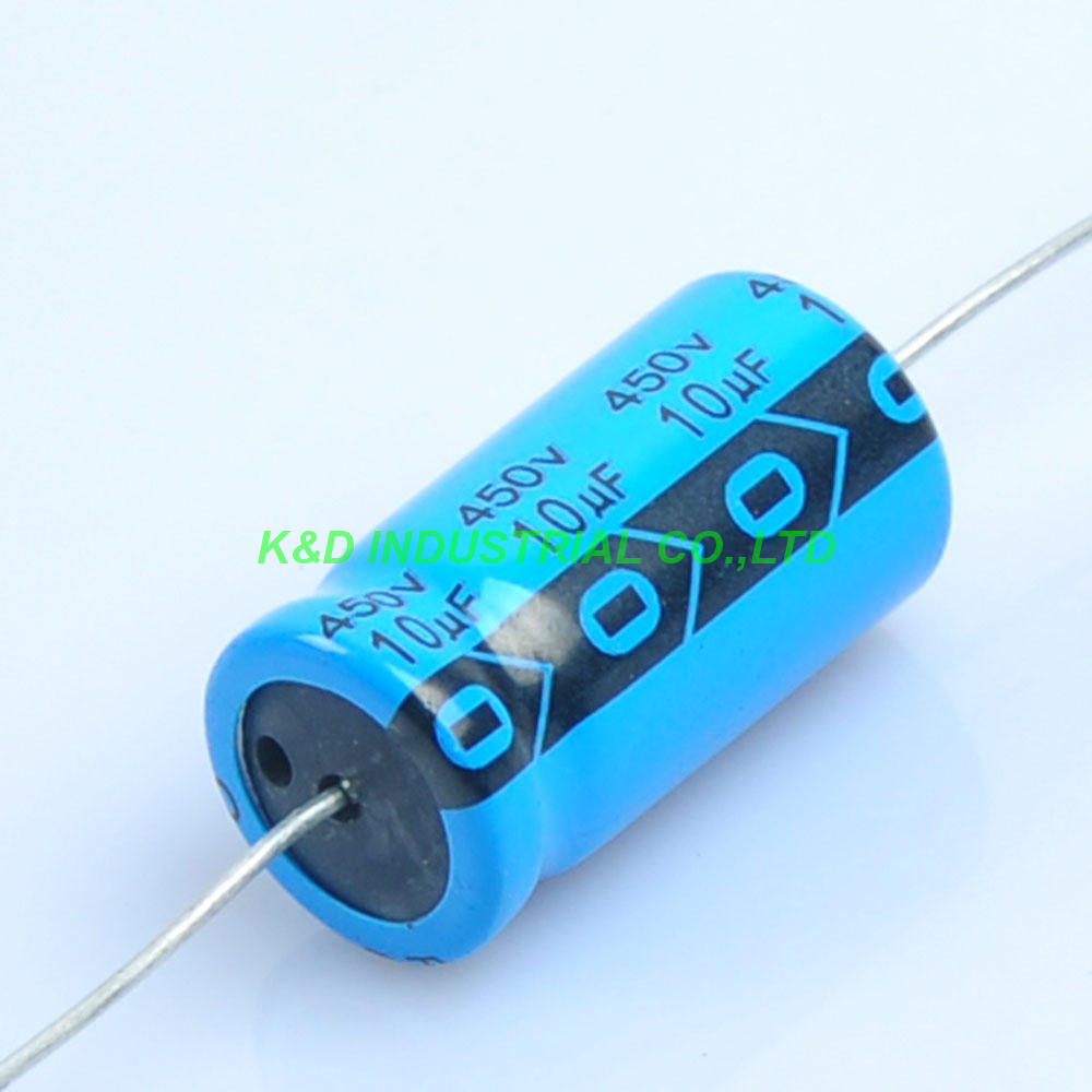 6pcs Axial Voltage Electrolytic Capacitor 10uf 450v Valve Radio Tube Amp Diy-in Electrical