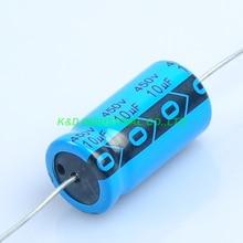 6pcs Axial Voltage Electrolytic Capacitor 10uf 450V For Valve Radio Tube Amp DIY цена и фото