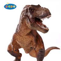 PAPO 2005 Squatting Tyrannosaurus Classic Ancient Creatures Simulation Animal Toy Collection Dinosaur