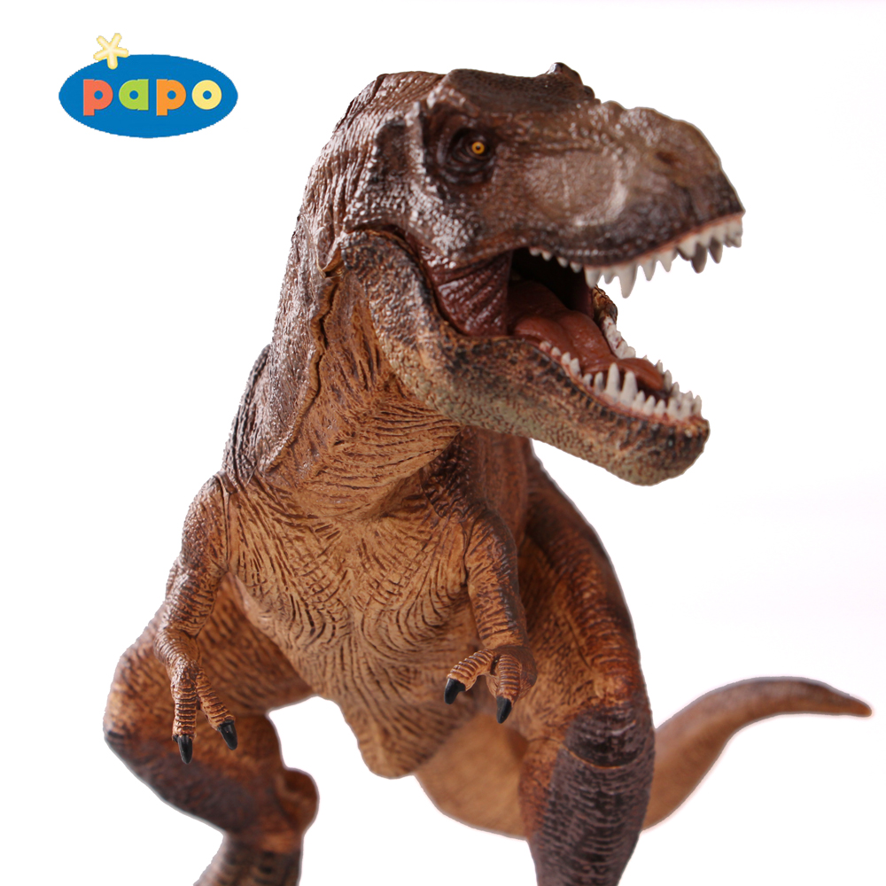 PAPO 2005 Squatting Tyrannosaurus Classic Ancient Creatures Simulation Animal Toy Collection Dinosaur