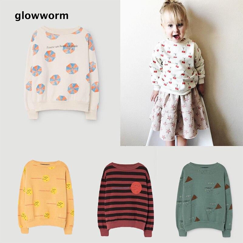 GlowwormKids Childrens Jacket 2017 BoBo Boys Girls Clothing Round Collar Hoodies 2-6T hs039