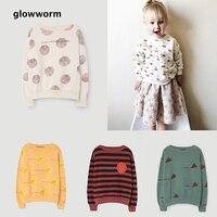 GlowwormKids Childrens Jacket 2017 BoBo Boys Girls Clothing Round Collar Hoodies 2 6T hs039