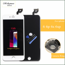 Дешевые Mobymax 100% Тесты AAA Сенсорный экран для iphone 4S 6 6 P 6S 6S плюс ЖК-дисплей Дисплей obrazovka Замена завод большая акция + подарки