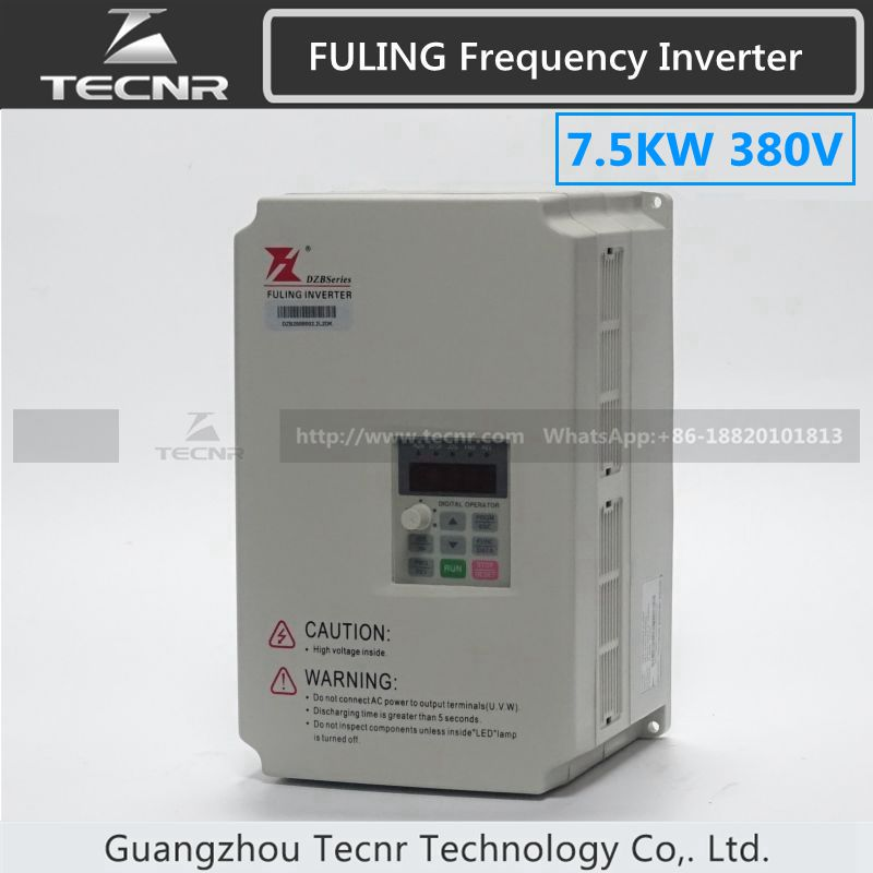 7.5KW frequency converter inverter  for 6KW 7.5KW 380V cnc spindle motor FULING brand cnc dc spindle motor 500w 24v 0 629nm air cooling er11 brushless for diy pcb drilling new 1 year warranty free technical support