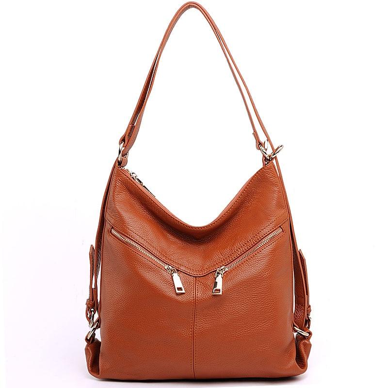 New Women Backpack Genuine Leather 5 Colors Women Bag Travel Backpack Female School Backpack for Teenage Girls High Quality HB25