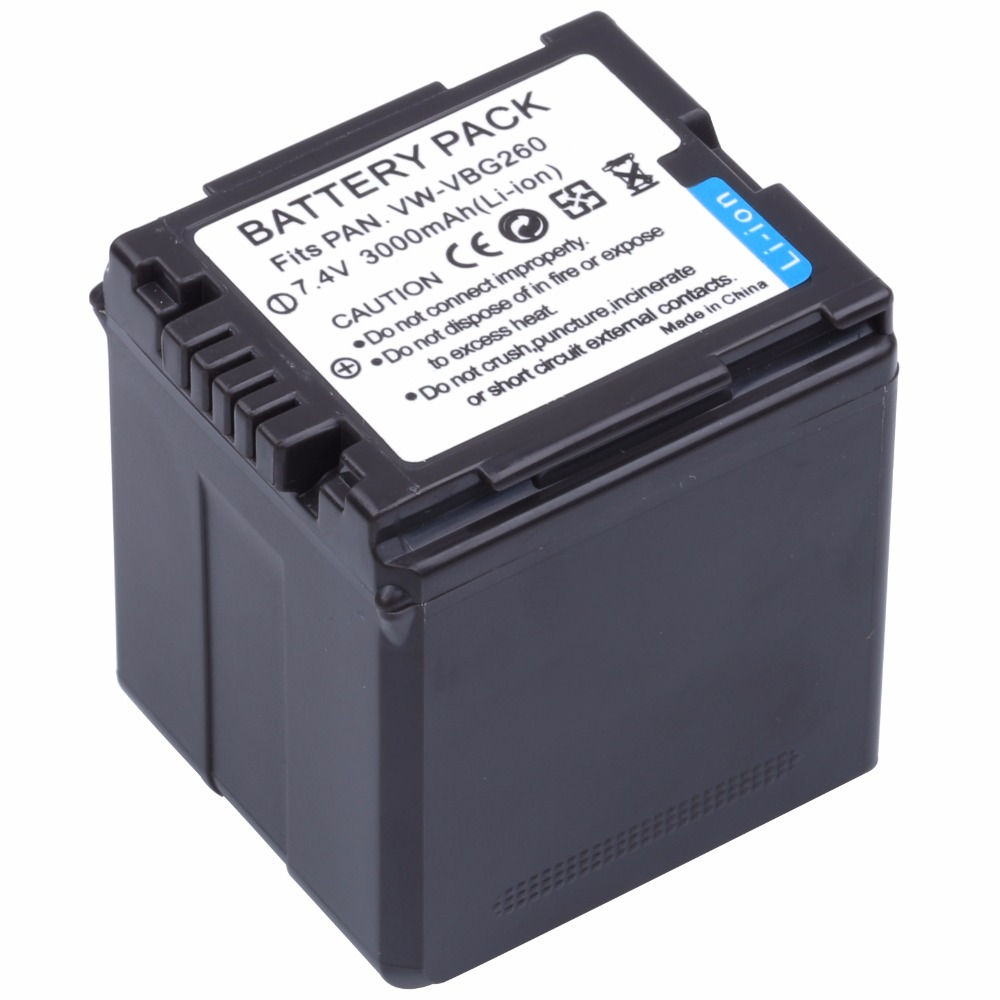 Probty VW-VBG260 VW VBG260 VBG130 VBG260 batería para Panasonic HDC-HS700 TM700 HS300 TM300 HS250 SD20 HS20 HDC-SDT750 SDR-H40